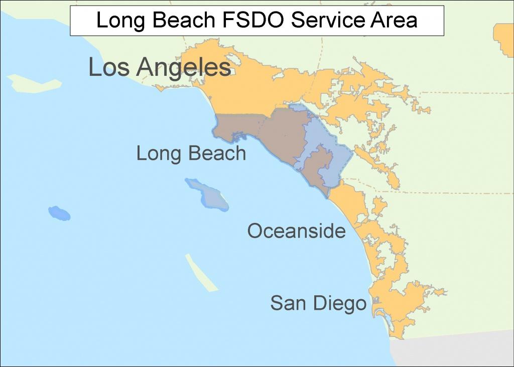 Long Beach Ca Map   D1Softball - Long Beach California Map