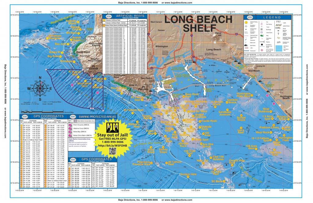 Long Beach Shelf - Baja Directions - Southern California Fishing Map