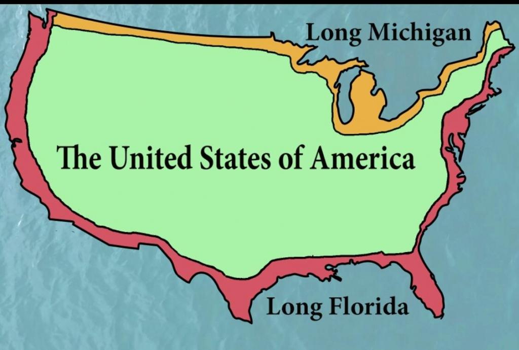Long Florida And Michigan : Mapporncirclejerk - Map From Michigan To Florida