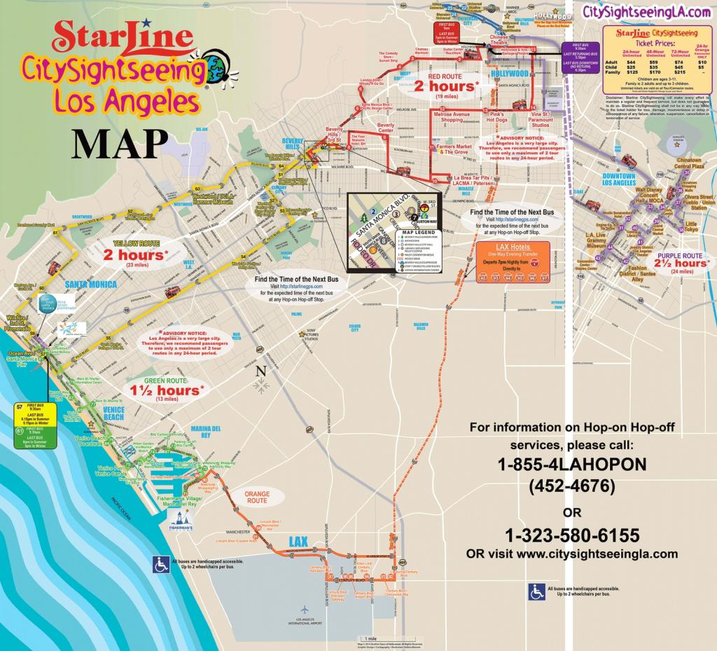 Los Angeles California Attractions | La Sightseeing Tours With Los - California Sightseeing Map
