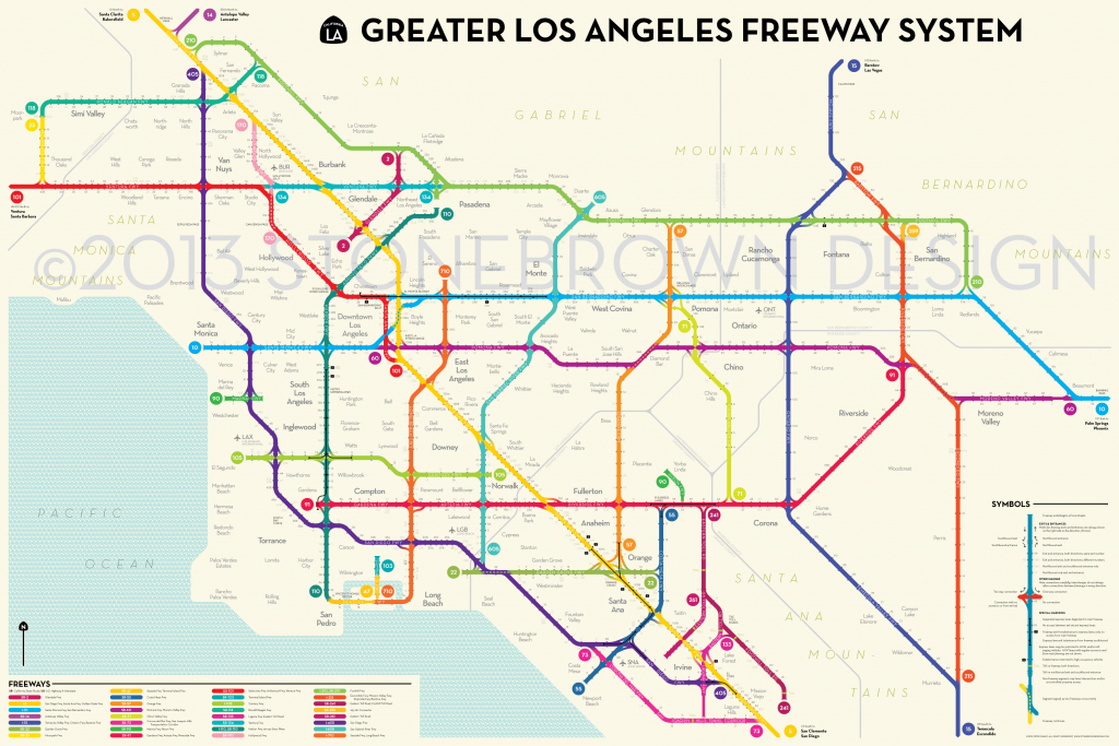 Los Angeles Freeways - Map Of Southern California Freeway System