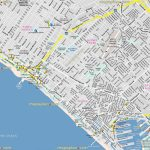 Los Angeles Map   California Santa Monica Bay, Venice Beach   Map Of Venice California Area