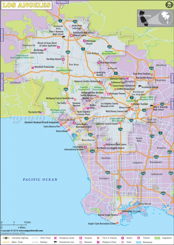 Los Angeles Map, Map Of Los Angeles City, California, La Map - Los Angeles California Map