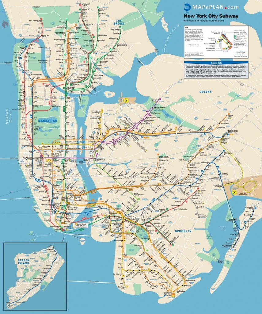 Lots Of Free Printable Maps Of Manhattan. Great For Tourists If You - Free Printable Map Of Manhattan