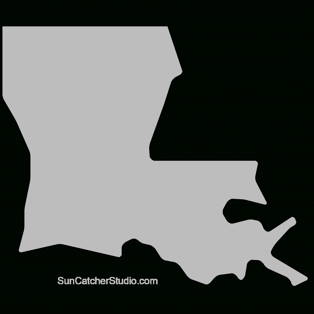 Louisiana - Map Outline, Printable State, Shape, Stencil, Pattern - Louisiana State Map Printable