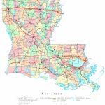 Louisiana Printable Map   Louisiana State Map Printable