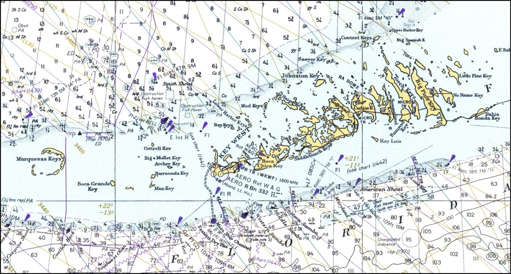 Lower Florida Keys, 1978 - Map Of Lower Florida