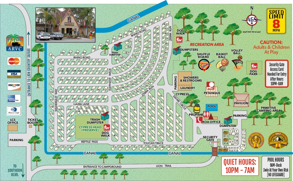 Loxahatchee, Florida Campground   West Palm Beach / Lion Country - Lion Country Safari Florida Map