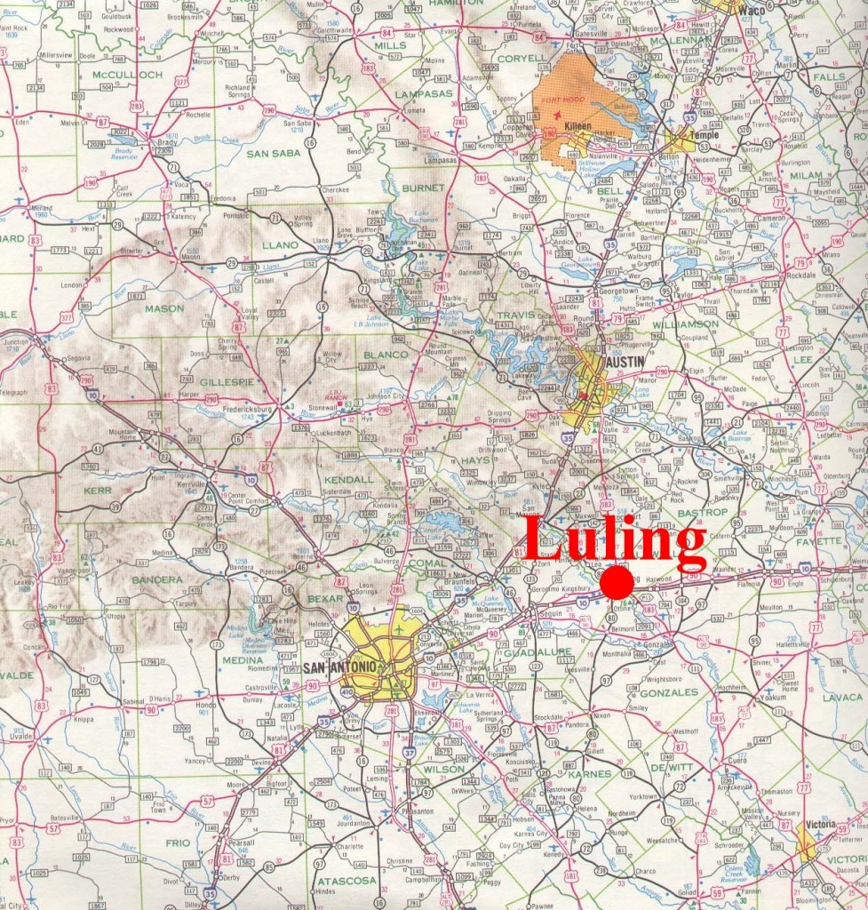 Luling, Texas - Luling Texas Map