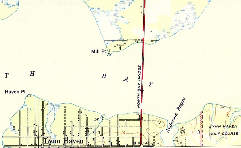 Lyn Haven, Florida, 1944 - Lynn Haven Florida Map