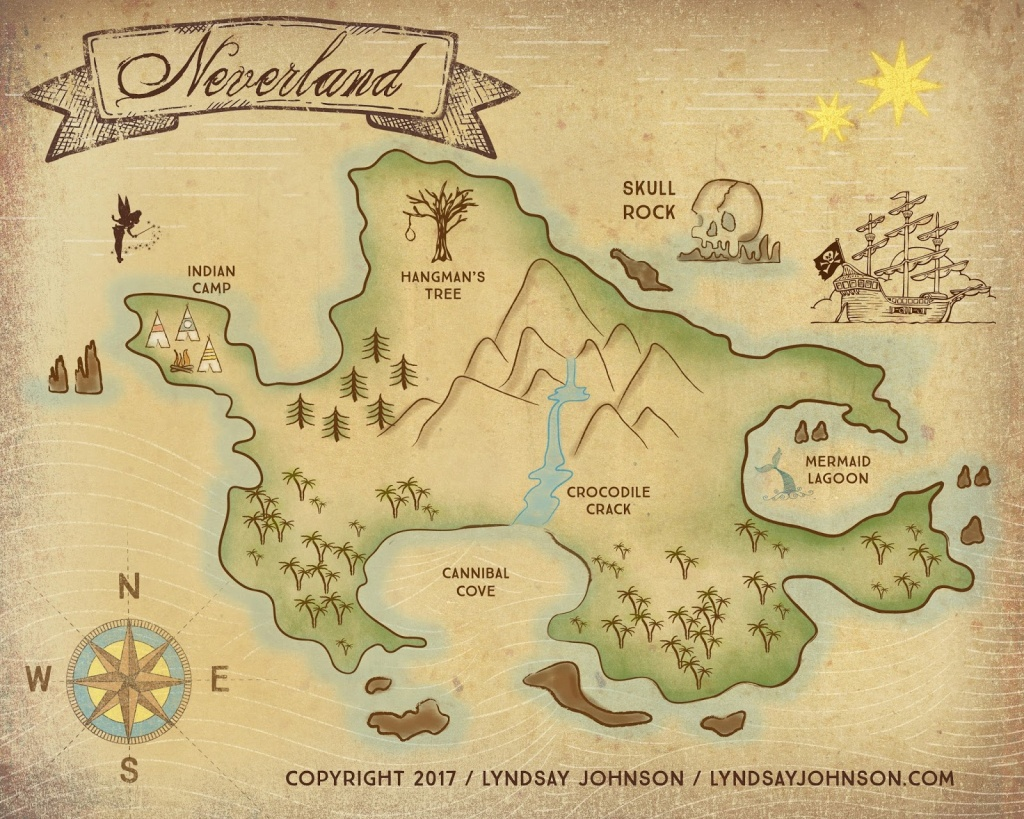 Lyndsay Johnson: Neverland Map Downloadable Print - Printable Neverland Map