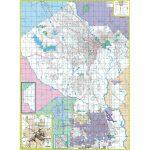 Macon And Bibb County, Ga Wall Map   The Map Shop   Printable Map Of Macon Ga
