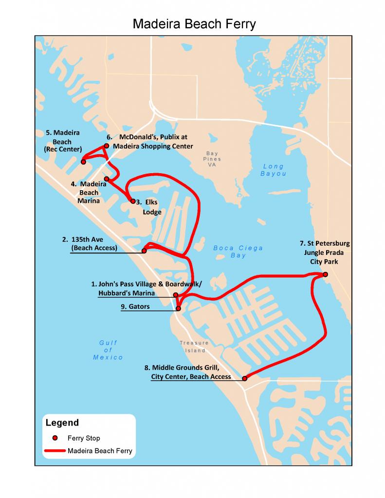 Madeira-Beach-Ferry-No-Loop-Rev-3 - Deep Sea Fishing Charters Gulf - Where Is Madeira Beach Florida On A Map