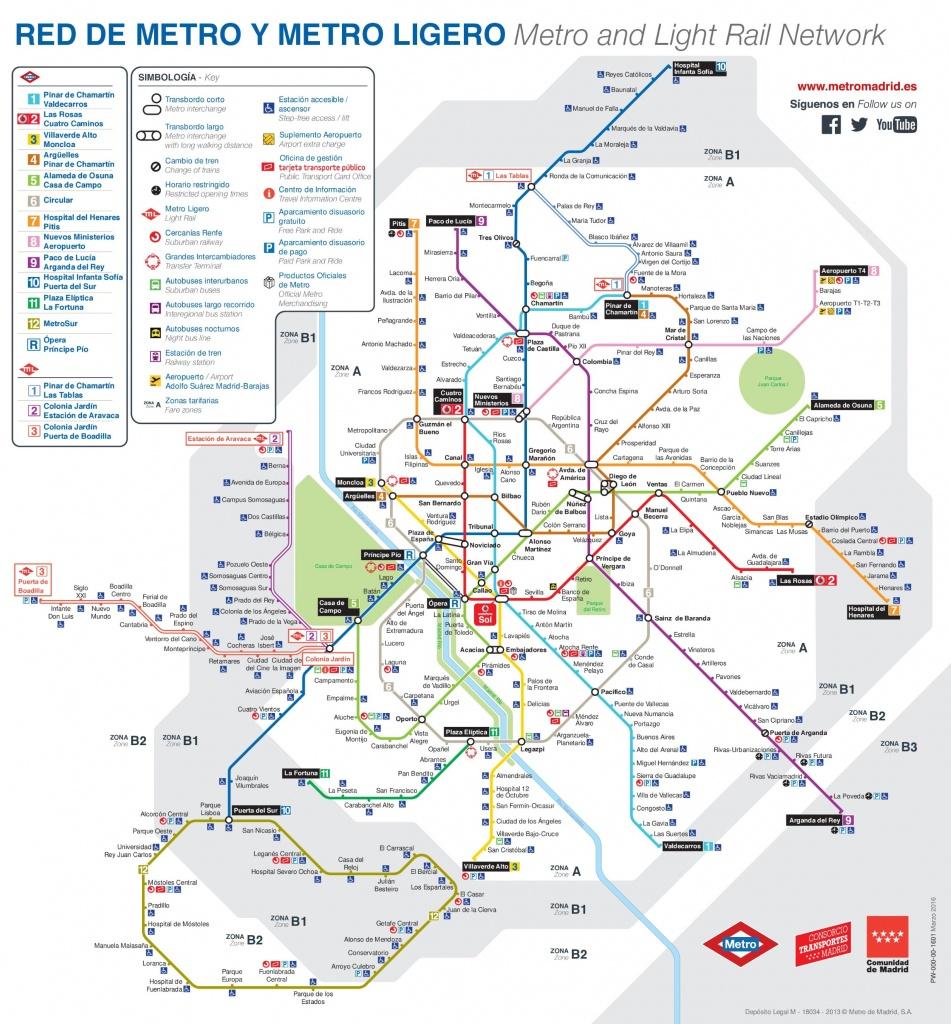 Madrid Maps | Spain | Maps Of Madrid City - Madrid City Map Printable