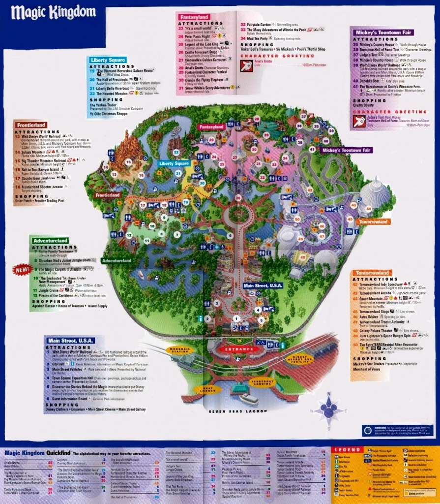 Magic Kingdom - Florida Theme Parks - Magic Kingdom Orlando Florida Map