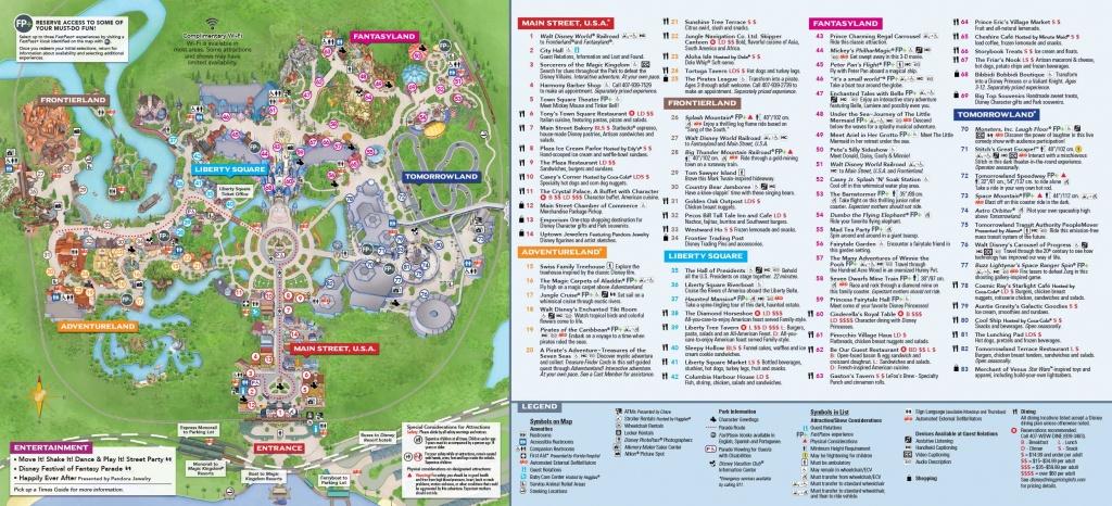 Magic Kingdom Itineraries - Mickey Chatter - Printable Magic Kingdom Map