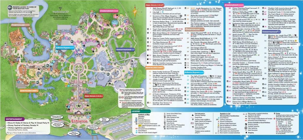 Magic Kingdom Park Map - Walt Disney World   Disney World In 2019 - Printable Magic Kingdom Map 2017