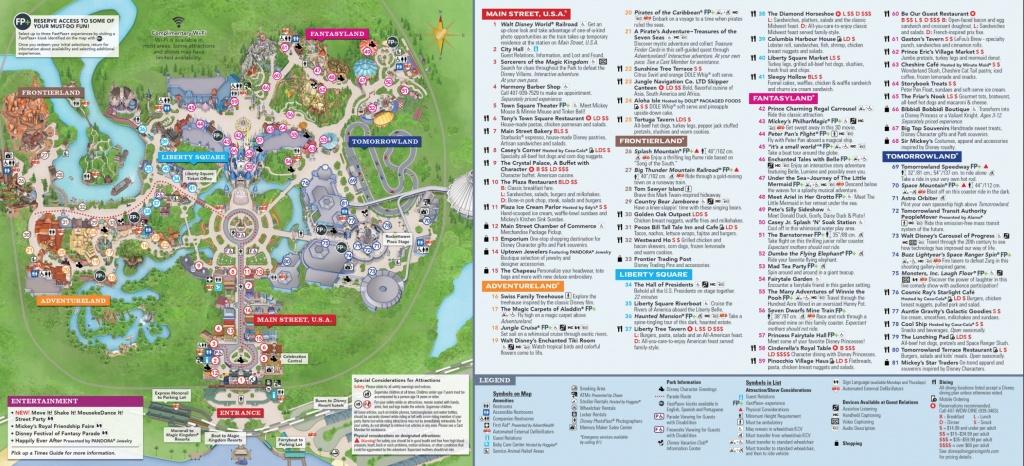 Magic Kingdom Park Map - Walt Disney World - Printable Magic Kingdom Map
