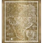 Main Image   Oliver Gal Texas Map 1956 Framed Art Print | Dream Home   Texas Map Framed Art
