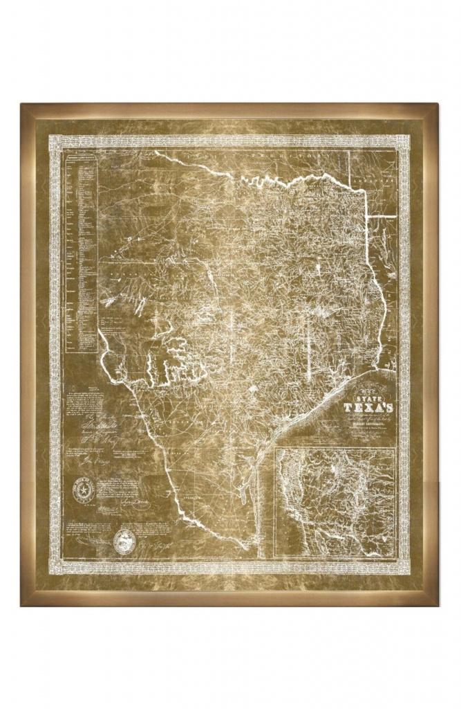 Main Image - Oliver Gal Texas Map 1956 Framed Art Print | Dream Home - Texas Map Framed Art