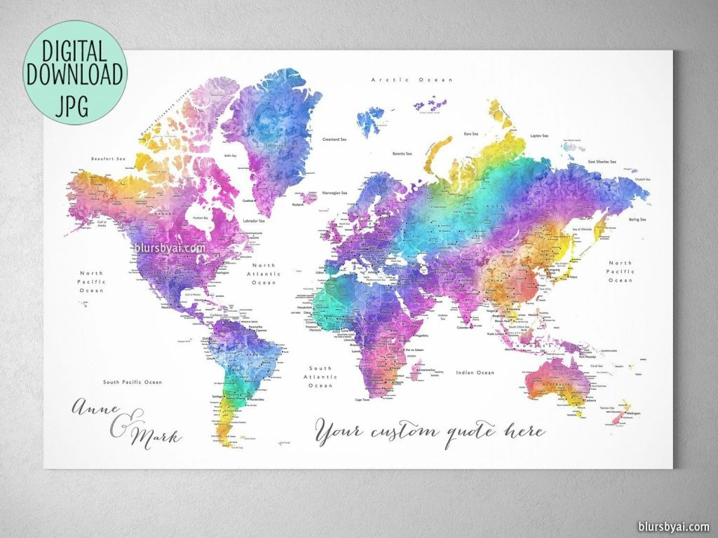 Make A Diy Travel Push Pin Map For Marking Your Travels Using One Of - Custom Printable Maps