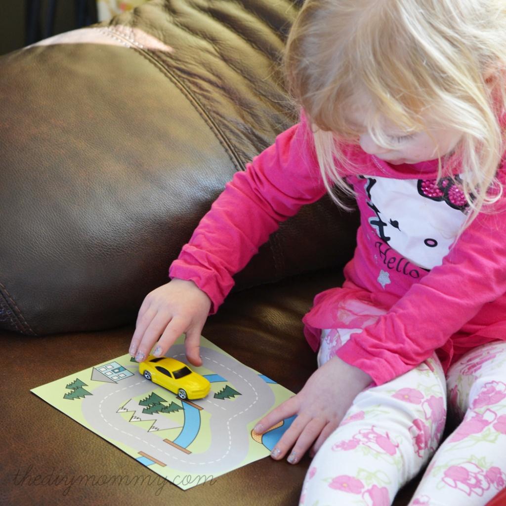Make A Mini Road Map Busy Bag - Free Printable   The Diy Mommy - Free Printable Road Maps For Kids
