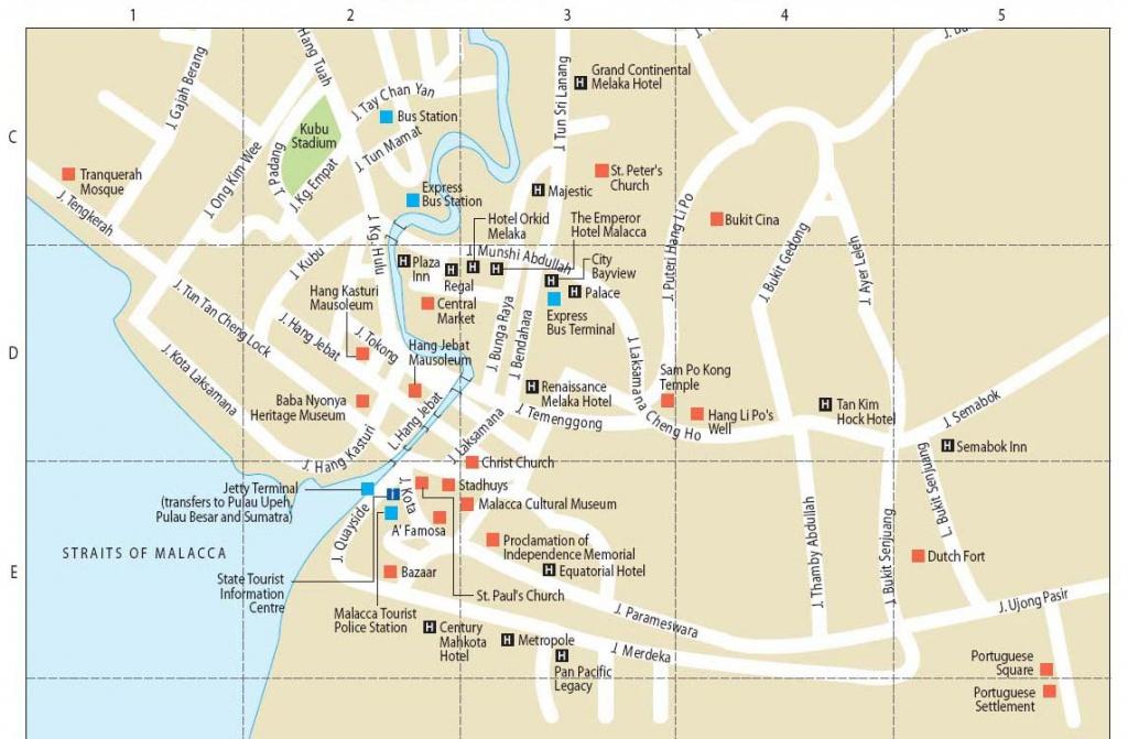 Malacca, City In Malaysia | Wonderful Malaysia - Melaka Tourist Map Printable