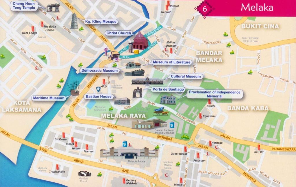 Malaysia Tourism & Travel Guide » Tourist Map :: Melaka @ Malacca - Melaka Tourist Map Printable
