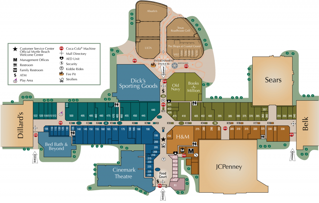 Mall Directory | Coastal Grand Mall - Allen Texas Outlet Mall Map