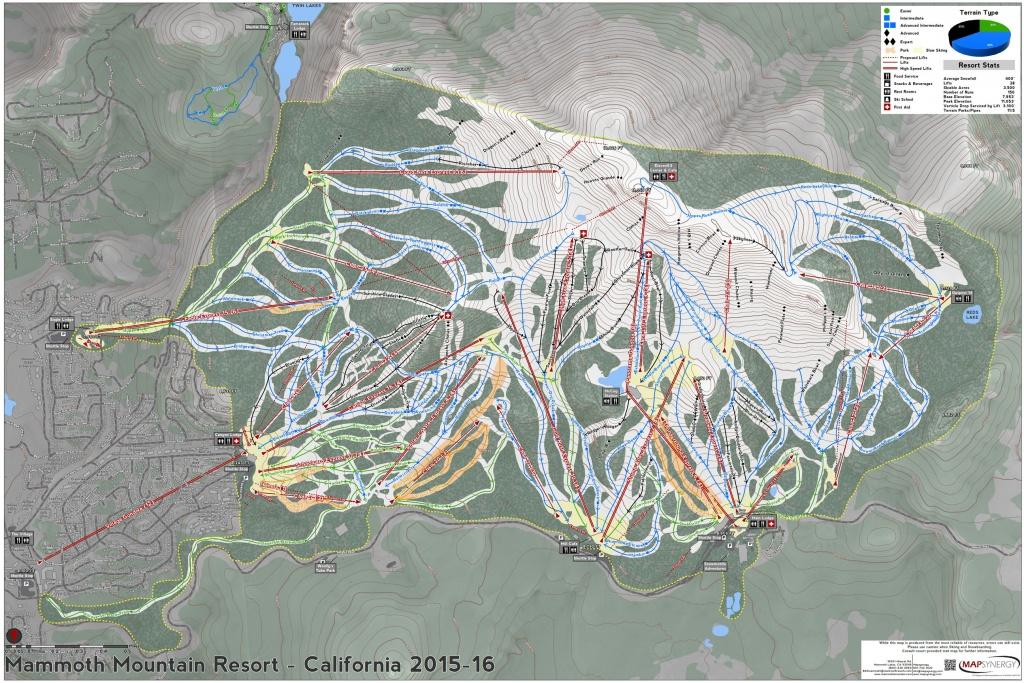 Mammoth Mountain - Skimap - Mammoth California Map