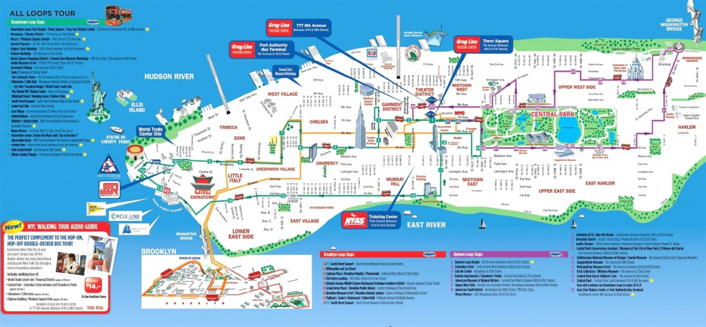 Manhattan Attractions Map And Travel Information   Download Free - Manhattan Sightseeing Map Printable