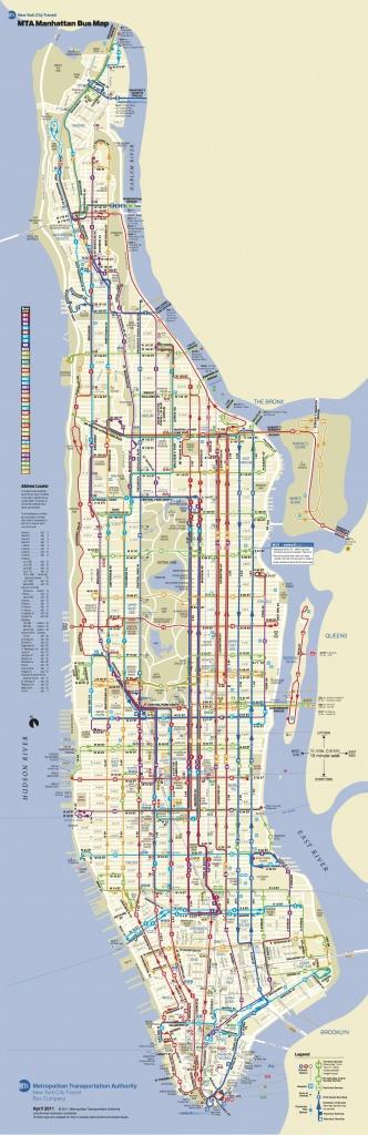 Manhattan Bus | מידע כללי | Bus Map, Map Of New York, Manhattan Map - Printable Manhattan Bus Map