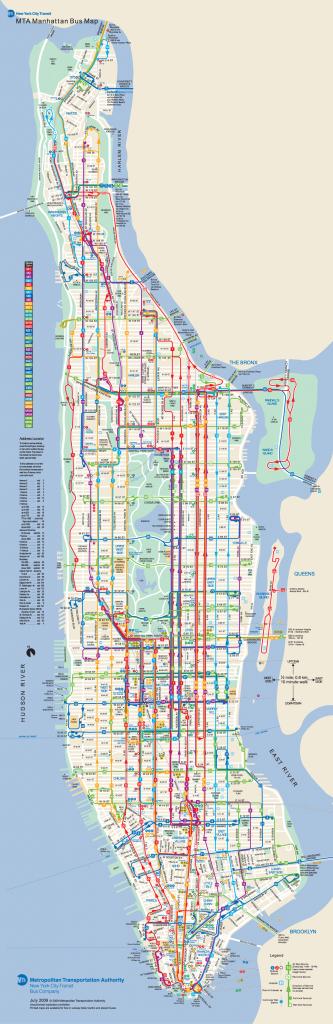 Manhattan Bus Map   New York Metropolitan Area   Bus Map, Map, New - Printable Manhattan Bus Map