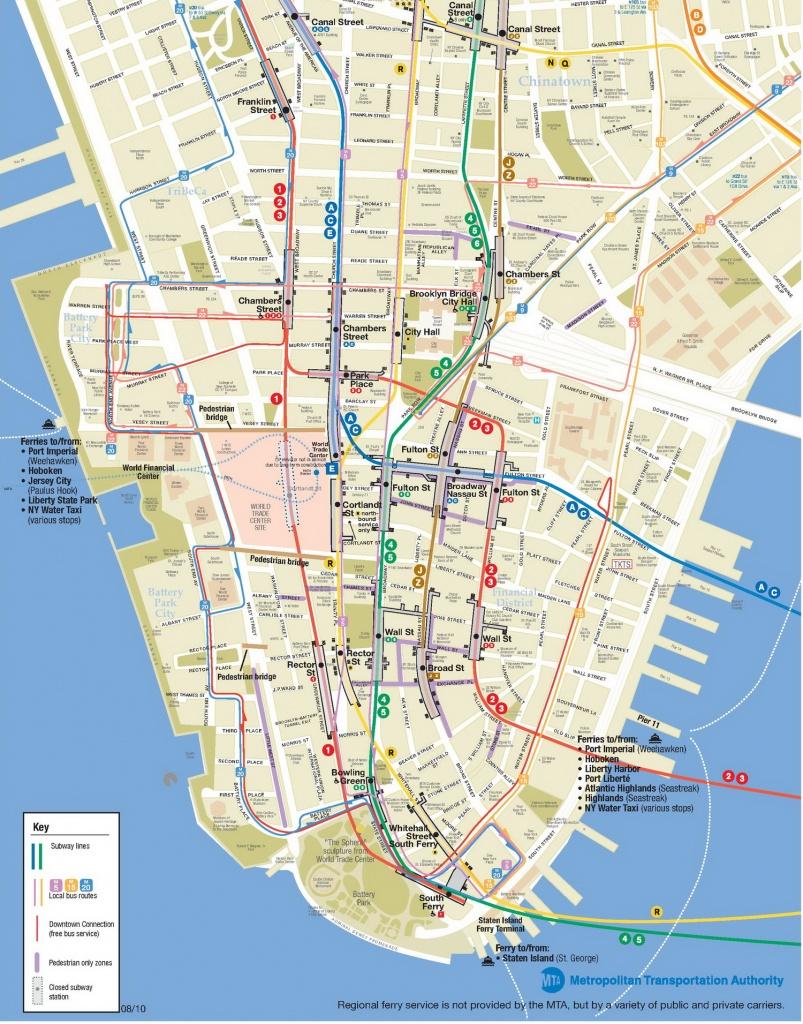 Manhattan Map And Travel Information | Download Free Manhattan Map - Manhattan City Map Printable