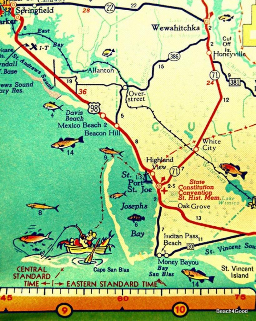 Map Art 8X10 Port St Joe Mexico Beach Florida Beach Wall Art   Etsy - Port St Joe Florida Map
