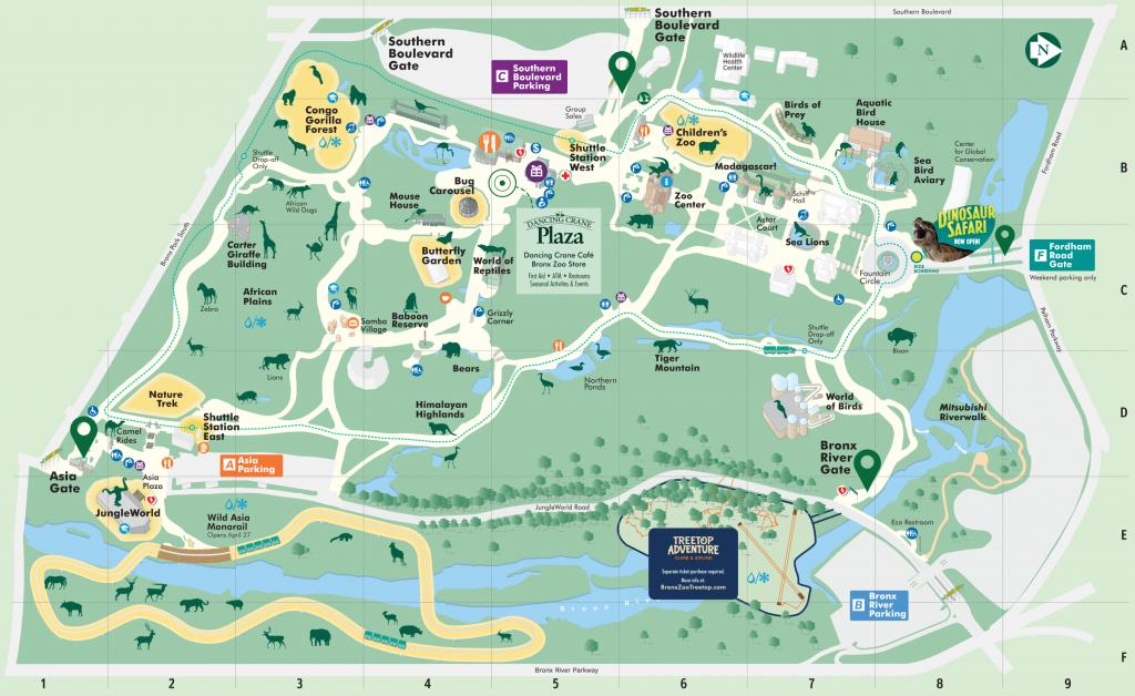 Map - Bronx Zoo - Bronx Zoo Map Printable