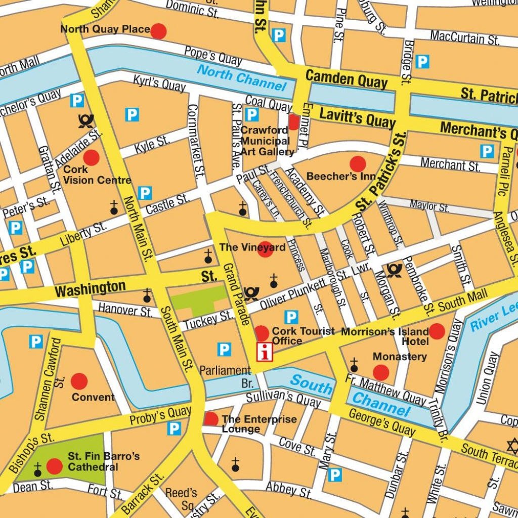 Map Cork, Ireland. Maps And Directions At Hot-Map. - Cork City Map Printable