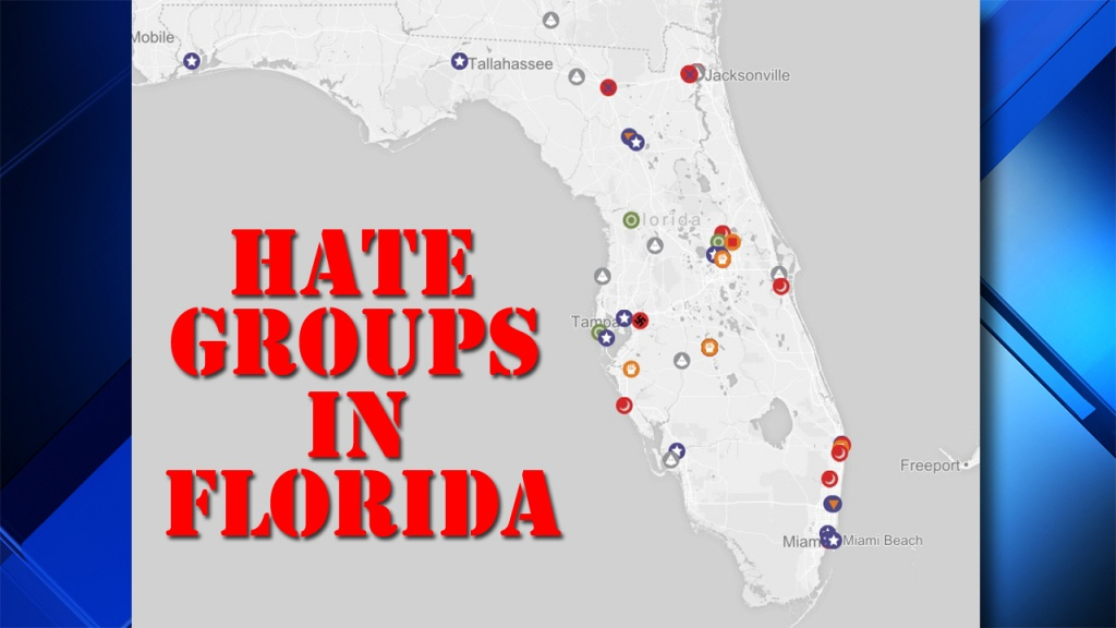 Map Details Where Florida Hate Groups Are In 2017 - Hudson Florida Map