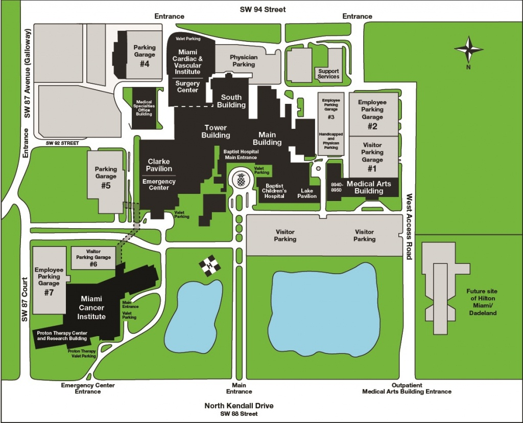 Map & Directions | Baptist Hospital Of Miami - Florida Hospital South Map