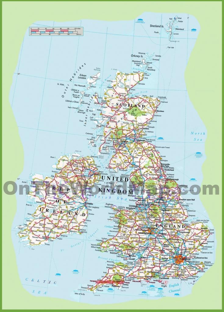 Map Free Printable Road Maps Uk - Berkshireregion - Free Printable Road Maps