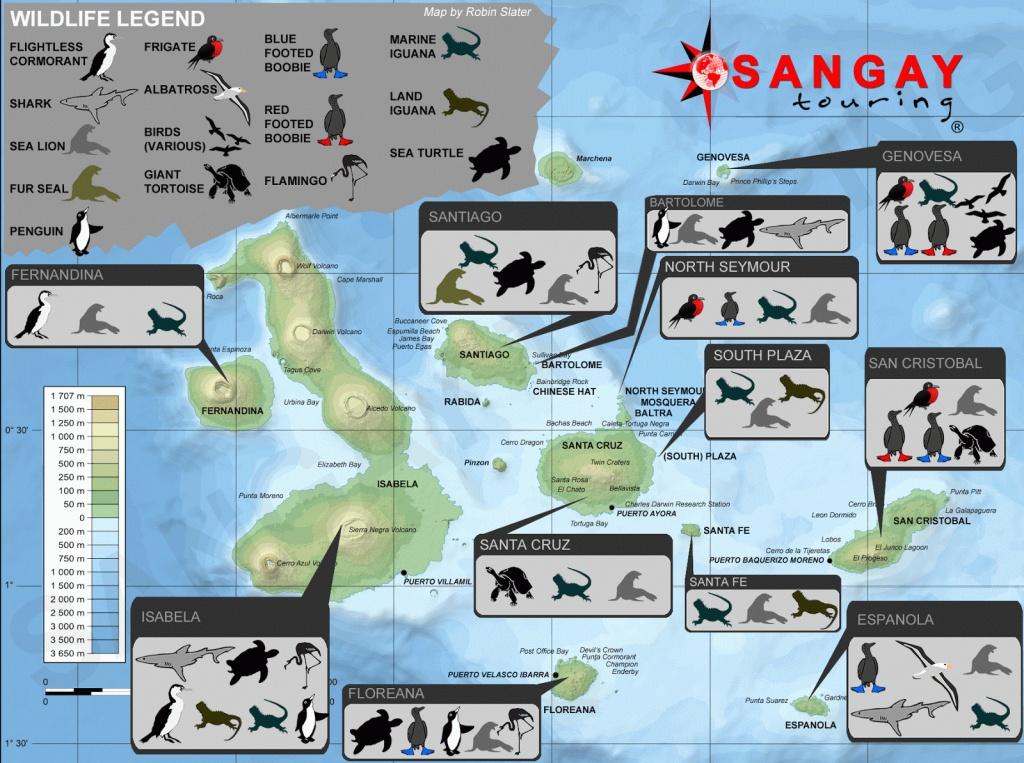 Map Galapagos Islands - Free Printable Maps - Printable Map Of Galapagos Islands