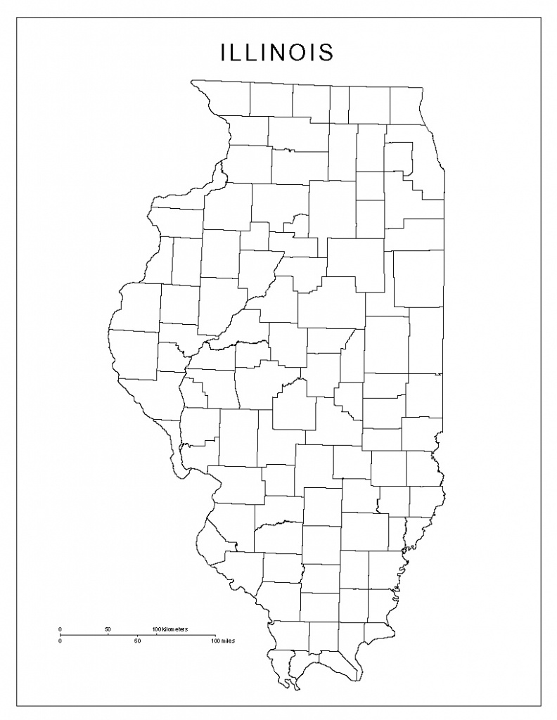 Map Illinois County And Travel Information | Download Free Map - Illinois County Map With Cities Printable