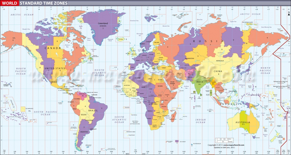 Map In Large Print Of The World Inpinks   Free Printable World Time - Printable World Time Zone Map