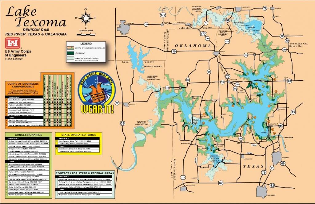 Map   Lake Texoma - Texas Lake Maps Fishing