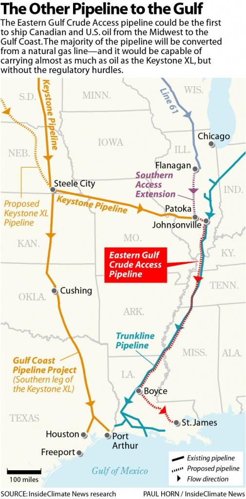 Map: Little-Known Pipeline Nearly As Big As Keystone Could Win Race - Keystone Pipeline Map Texas