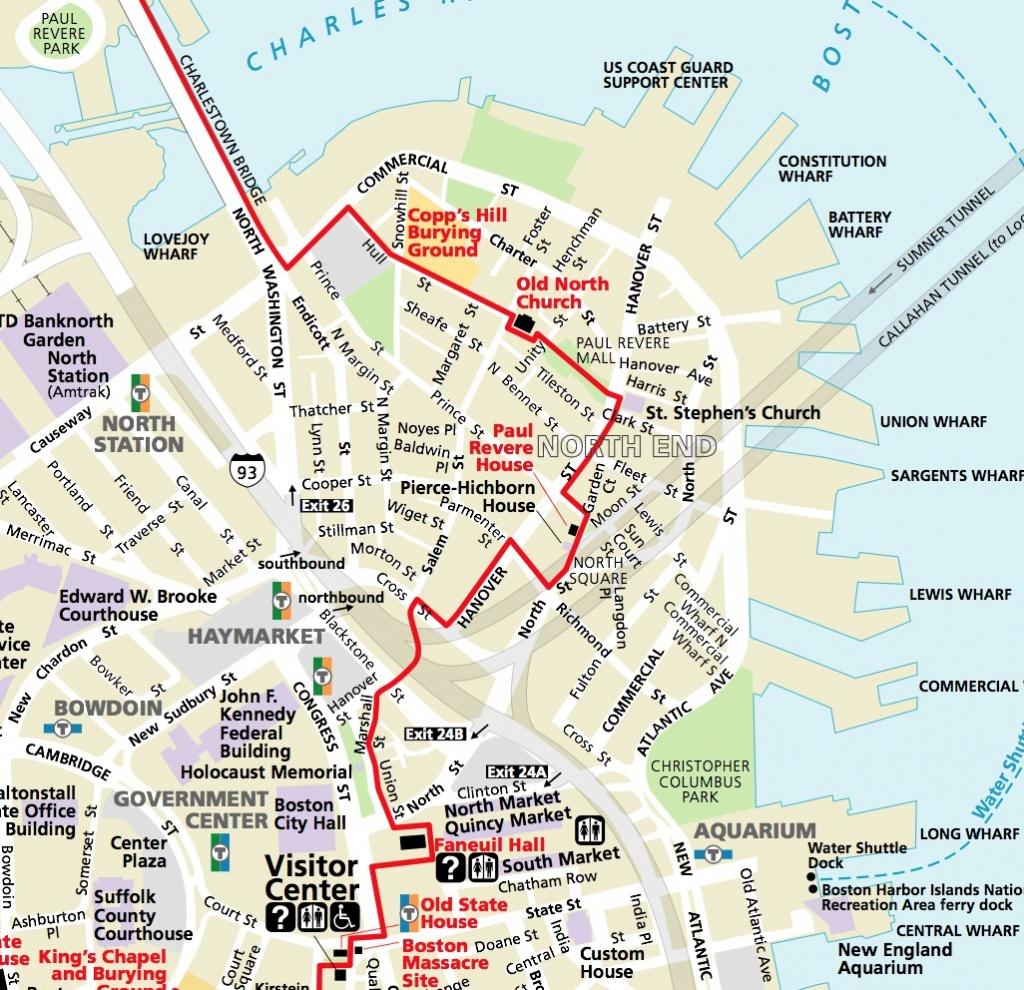 Map | Northendboston - Printable Map Of Boston Attractions