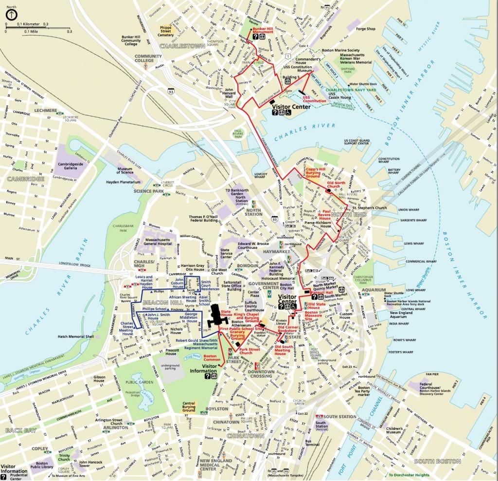 Map   Northendboston - Printable Map Of Boston