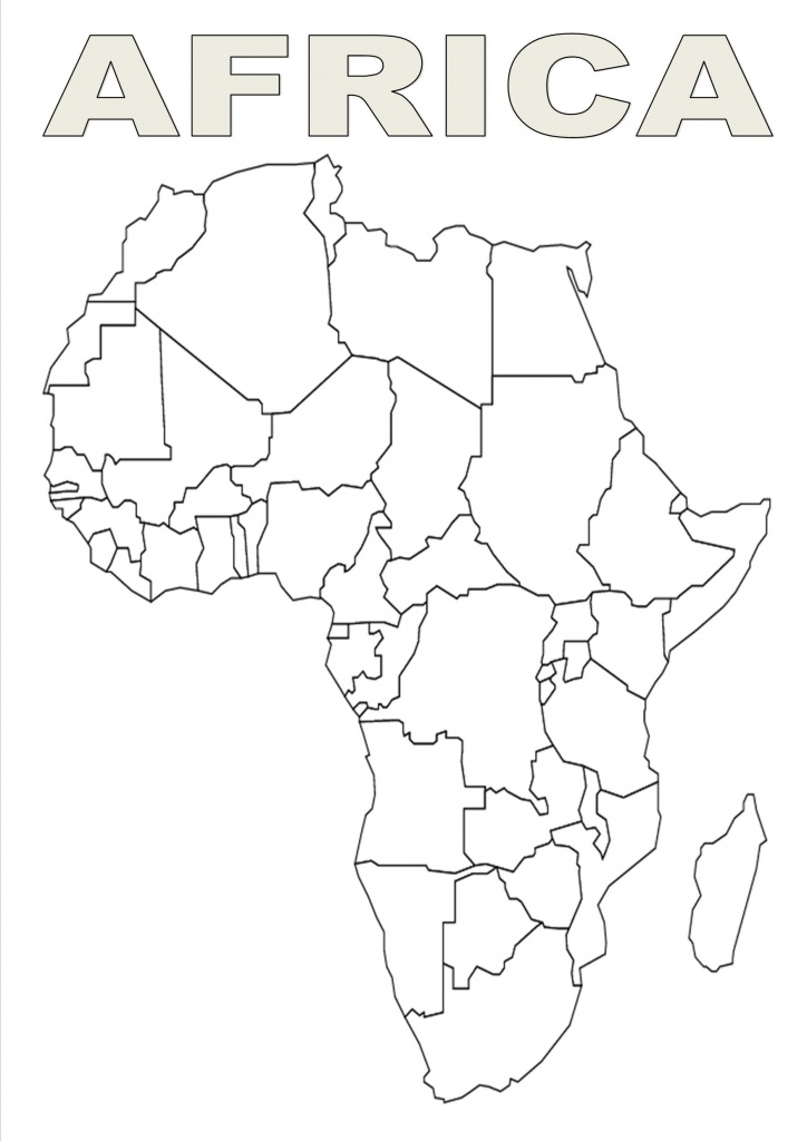 Map Of Africa Template | Silhouettes | Africa Outline, Map Outline - Africa Outline Map Printable