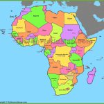 Map Of Africa With Countries And Capitals   Printable Map Of Africa With Capitals