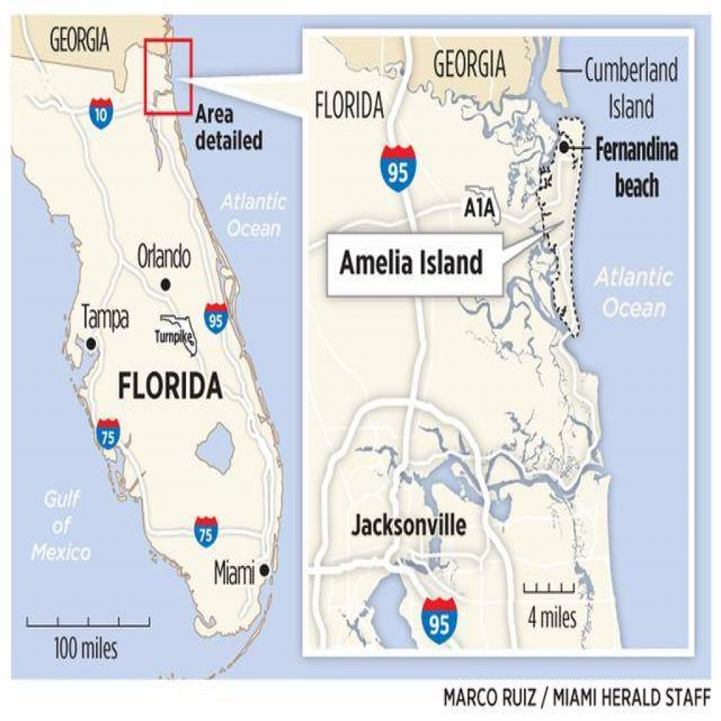 Map Of Amelia Island Florida - Amelia Island Florida Map